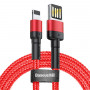 Кабель Baseus cafule Cable USB For iP 2A 3m Red+Red CALKLF-R09